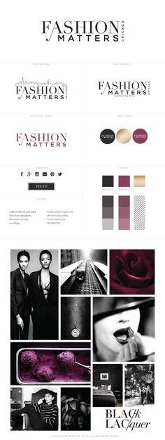 Fashion Matters Chicago Logo Identity, creative business branding, creative business blog design, logo design, wordpress theme, mood board inspiration, blog design idea, graphic design, branding