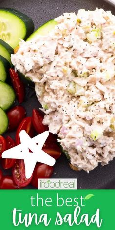 Healthy Tuna Salad recipe with greek yogurt and less mayo that actually tastes good! It is creamy, fluffy and flavorful. Meal prep, refrigerate for up to 5 days and use for school and work lunches, cold dinner or easy weekend meal.