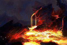 Volcanic Landscape (SDJ) by mhindman on DeviantArt