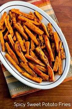Spicy Sweet Potato Fries Recipe [from Kalyn's Kitchen]