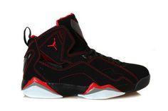 Jordan True Flight Red Black White Grey