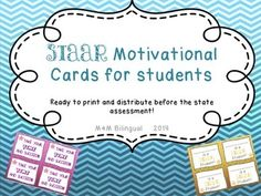 #Texasteachers #STAAR #motivationcards #testprep #$1.50