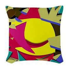 The Triangular Dimension 5 Woven Throw Pillow   Artwork  by Grayson Art Prints