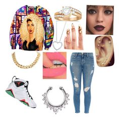 """thugs are always cute"" by zykirias ❤ liked on Polyvore featuring Bijules, Retrò, Allurez, Nordstrom, Frame Denim, women's clothing, women, female, woman and misses"