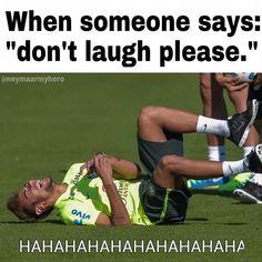 It´s the really Soccer Memes, Soccer Quotes, Football Memes, Sports Memes, Funny Vid, Hilarious, Neymar Barcelona, Neymar Pic, Football Players