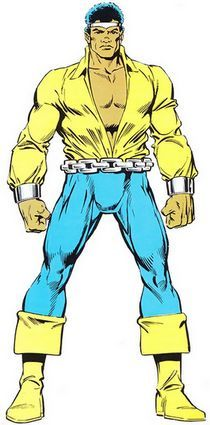 La fiche Marvel Universe du super-héros Power Man (Luke Cage) publiée dans le Strange Spécial Origines 259bis des éditions Lug.
