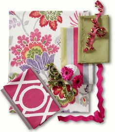 Calico Corners Bamboo Fabric Collection: Kazoo in Ruby. Country Plains in Leaf. Lattice Bamboo in Raspberry. Calico Corners Fabric, Textiles, Best Paint Colors, Fabric Combinations, Passementerie, Free Interior Design, Fabulous Fabrics, Pattern Mixing, Fabric Swatches
