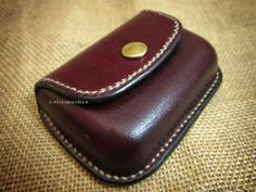 Leather coin purse wallet wet moulded wet formed by CARACODA