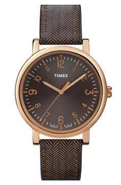 W is for watches. Love this tweed & rose gold watch!