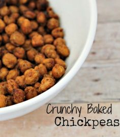 Crunchy roasted chickpeas. I've made something like this and it turned out really good