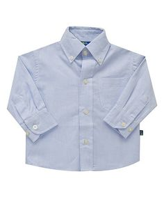 Loving this Blue Oxford Button-Up - Infant, Toddler & Boys on #zulily! #zulilyfinds