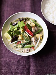 Who needs meat when you can eat glorious veg-filled dishes instead? That's exactly what the foodies behind Meat Free Monday are saying. If you fancy a taste of Thai vegetable curry this evening - or p. Thai Vegetable Curry, Feel Good Food, Asian Recipes, Ethnic Recipes, Le Chef, Vegetarian Recipes, Delicious Recipes, Tasty, Casserole Recipes