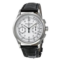 773c43ad04 Amazon.com  Patek Philippe Complications Chronograph Silvery White Dial  Mens Watch 5170G-001  Watches