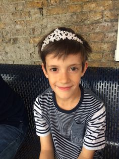 My youngest supporting tiara-wearing in the name of Dr Hadwen Trust...