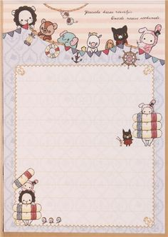 kawaii Memo Pad Sentimental Circus rabbit maritime Japan 5