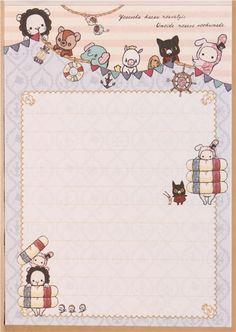 kawaii Memo Pad Sentimental Circus rabbit maritime Japan 5