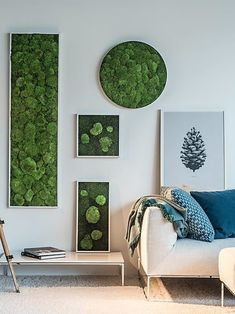 34 Delicate Natural Moss Wall Art Decorations Ideas To Try Right Now Moss Wall Art, Moss Art, Wall Art Decor, Spring Plants, Gardening Books, Industrial Style, Gallery Wall, Delicate, Kids Rugs