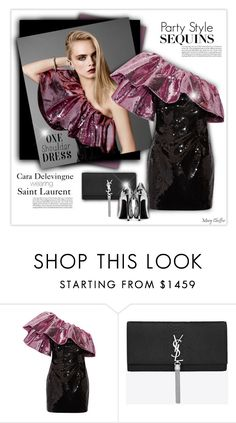 """""""Party Style: One-Shoulder Dress"""" by mcheffer ❤ liked on Polyvore featuring By Terry, Yves Saint Laurent and dress"""