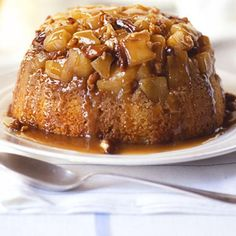 Apple Steamed Pudding w/ Sticky Toffee Sauce