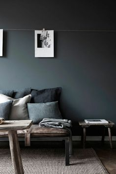 How to choose the best color for the living room - anthracite gray