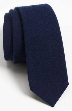 $15, The Tie Bar Woven Wool Blend Tie Navy Regular. Sold by Nordstrom. Click for more info: https://lookastic.com/men/shop_items/139815/redirect