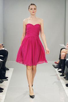 Pink dress from Monique Lhuillier Bridesmaids, Fall 2013.