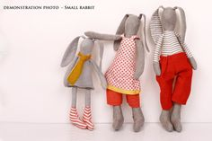 Eco friendly toy Small Bunny Rabbit doll little by TIMOHANDMADE