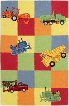 trucks galore rug for the little truck lover!
