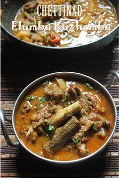 YUMMY TUMMY: Chettinad Elumbu Kuzhambu Recipe - Lamb Bone Curry Recipe