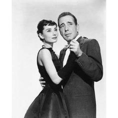 Audrey Hepburn and Humprey Bogart
