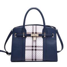 Quality PU Big Capacity Multiple Use Shoulder Bag Handbag Navy