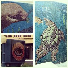 Main Street Grill, Deland, Florida. Check out the beautiful tile mosaics as you walk down the steps to this treasure.
