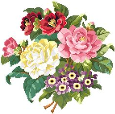 Le bouquet charmant. Cross stitch pattern. by rolanddesigns