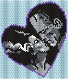 Frankensteins Monsters Valentine Bead Pattern | Peyote Bead Patterns | Holidays Bead Patterns