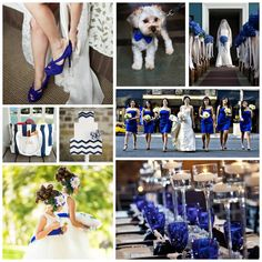 Bridesmaid dresses are cute and of course I'm wearing royal blue shoes duuuh lol Blue White Weddings, Blue Wedding, Dream Wedding, Wedding Pics, Wedding Themes, Wedding Styles, Wedding Stuff, Wedding Ideas, Wedding Color Schemes