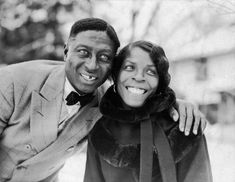 Huddie Ledbetter (Leadbelly) and Martha Promise Ledbetter, in Wilton, Connecticut, February, 1935. Photograph from the Lomax Collection at The Library of Congress, Washington, D.C.