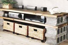 10 créations au look industriel faites de blocs de béton, et facilement réalisables à la maison!