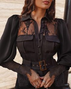 Trend Fashion, 2020 Fashion Trends, Blouse Styles, Blouse Designs, Hijab Fashion Summer, Chicwish Skirt, Chic Outfits, Fashion Outfits, Victorian Blouse