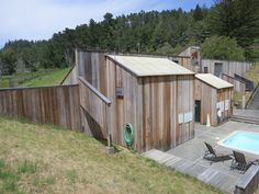 Moonraker Athletic Center by Charles Moore, one of the original buildings. Sea Ranch California, Northern California, Architecture Program, Interior Architecture, Sea Angling, Cedar Siding, Ranch Style, Shed, Outdoor Structures