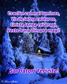 Crăciun cât mai luminos, Vis de iarnă călduros, Liniște lânga cei dragi, Veste bună dinspre magi! An Nou Fericit, Xmas, Christmas, Diy And Crafts, Religion, Romania, 3d, Quotes, Anime