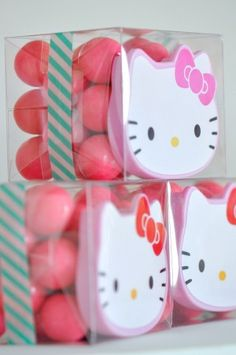 Clear Boxes with Silver Bases | 12ct - hello kitty party favor boxes.