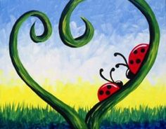 Love Bugs - Paint Nite Painting