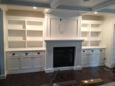 The Cape Cod Ranch Renovation: Mantel and Built-in