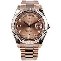 ROLEX DAY-DATE II ROSE GOLD PRESIDENT WATCH PINK DIAMOND DIAL Rolex http://www.amazon.com/dp/B00M8JE9O4/ref=cm_sw_r_pi_dp_sJuWwb03QR6B1