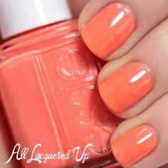 Essie Serial Shopper is a punchy, peachy orange creme