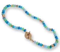 Gemstones #necklace #Blue ocean