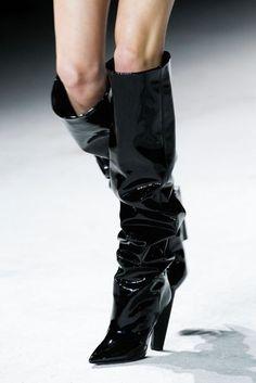 Saint Laurent Slouchy Boot Paris Fashion Week Trend   British Vogue