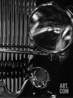 Vintage Automobile Headlight and Grill Photographic Print by Brett Weston at Art.com