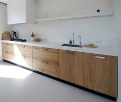 I've seen so many beautiful examples all over the internet lately of natural wood kitchen cabinets and thought I'd pull together a few of my favorites. Natural Wood Kitchen Cabinets, Ikea Kitchen Cabinets, Kitchen Cabinet Hardware, Natural Kitchen, Kitchen Wood, Cabinet Doors, Wood Cabinets, Kitchen Interior, New Kitchen