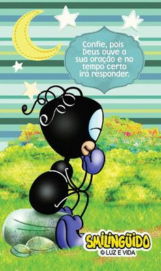 REDE MISSIONÁRIA: DEUS OUVE... Mig E Meg, Holy Ghost, Christmas Paintings, Cartoon Drawings, Tweety, Bible Verses, Faith, Pictures, Fictional Characters